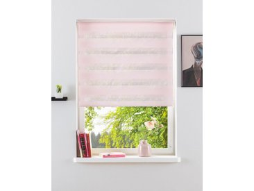 my home Doppelrollo »Marano«, Lichtschutz, ohne Bohren, freihängend, im Fixmaß, rosa, rosé
