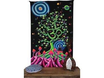 Guru-Shop Wandteppich »Goa Wandtuch, UV Schwarzlicht Wandbehang,..«, Höhe 180 mm, OM