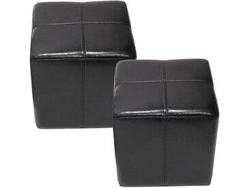 MCW Sitzwürfel »Carrara-2« (Set, 2er), Praktisch, Fertig Montiert, Belastbarkeit ca. 150 kg, schwarz, schwarz