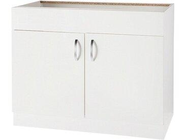 wiho Küchen Spülenschrank »Flexi« Breite 100 cm, weiß, Weiß Glanz