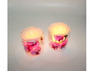JOKA international Teelichthalter »Teelichthalter, 2er Set, Orchidee, doppelwandig« (2 Stück)