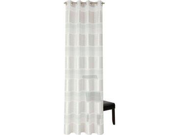 Neutex for you! Vorhang nach Maß »ILMA«, Ösen (1 Stück), Ösenschal mit Metallösen, silberfarben, silberfarben-wollweiß