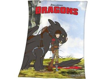 Herding Dragons Fleece-Decke, 130 x 160 cm