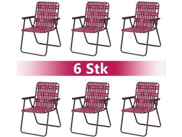 COSTWAY Klappstuhl »6 er Strandstuhl Gartenstuhl Campingstuhl« bis 120kg
