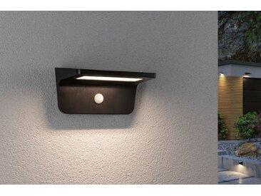 Paulmann LED Solarleuchte »Outdoor Solar Wandleuchte, Solveig, Anthrazit, IP44, 5W, 350lm, 3000K Warmweiß, mit Bewegungsmelder«