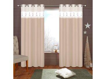 my home Vorhang »WICHTEL«, Ösen (1 Stück), gelb, sand