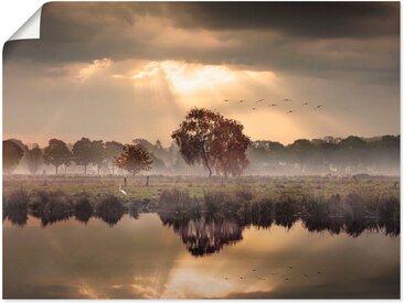 Artland Wandbild »Der Herbst in seiner stillen Einsamkeit«, Gewässer (1 Stück), Poster