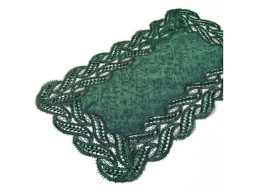 Delindo Lifestyle Tischläufer »DIANA«, Edle Macramee-Spitze, grün, dunkelgrün