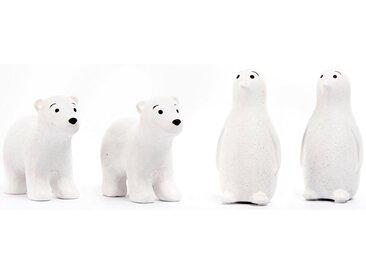 Fabriano Tierfigur »Enno & Finn« (Set, 4 Stück, 2x Eisbär und 2x Pinguin)