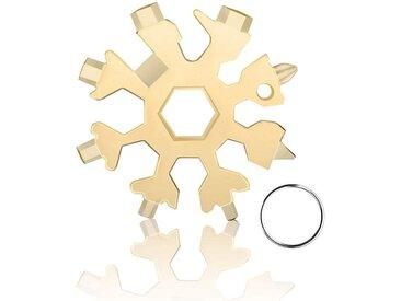 kueatily Akku-Schneefräse »18-in-1-Edelstahl-Schneeflocken-Multifunktionswerkzeug, Schneeflocken-Multifunktionswerkzeug