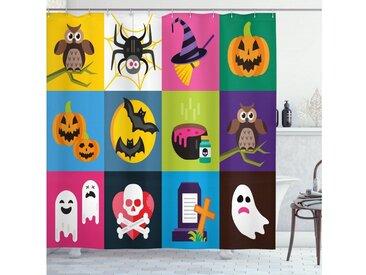 Abakuhaus Duschvorhang »Moderner Digitaldruck mit 12 Haken auf Stoff Wasser Resistent« Breite 175 cm, Höhe 180 cm, Halloween Bunte Horror Squares