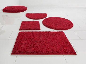 Home affaire Badematte »Maren« , Höhe 15 mm, rutschhemmend beschichtet, fußbodenheizungsgeeignet, Bio-Baumwolle, rot, rot