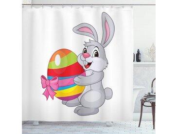 Abakuhaus Duschvorhang »Moderner Digitaldruck mit 12 Haken auf Stoff Wasser Resistent« Breite 175 cm, Höhe 180 cm, Ostern Cartoon-Kaninchen