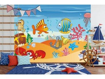 Bilderdepot24 Fototapete, Kinderbild Unterwasser Tiere VII, selbstklebendes Vinyl, bunt, Kinderbild Unterwasser Tiere VII, bunt