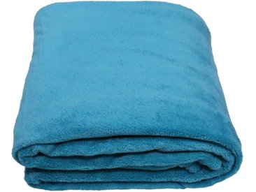 SunDeluxe Wohndecke »Fleecedecke SoftFleece«, blau, türkis
