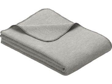 IBENA Wolldecke »Jacquard Decke Auckland«, GOTS zertifiziert, grau, Baumwolle-Schurwolle, grau