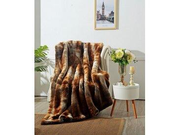 Star Home Textil Wohndecke »Zobel«, aus besonders weichem Webpelz, braun, braun
