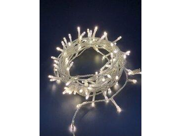 style home LED-Lichterkette, 100er LED Lichtervorhang Innen und Außen 8M, 8 Modi,Timer Funktion für Weihnachten Party Garten Festival (Weiß, IP44)