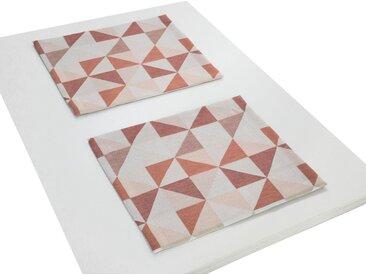 Wirth Platzset, »BERLARE«, (Packung, 2-St), orange, terrakotta