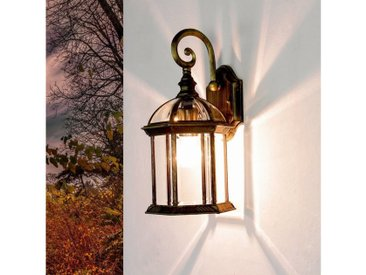 Licht-Erlebnisse Außen-Wandleuchte »WIEN Rustikale Wandlampe Außen rustikal Gold Antik Wegbeleuchtung«