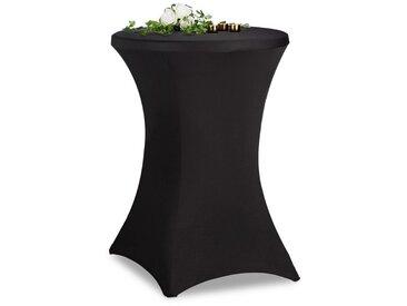 relaxdays Stehtischhusse »Stehtischhusse 70 cm«, schwarz, Schwarz
