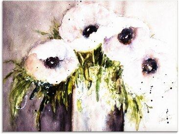 Artland Glasbild »Lila Mohn in Vase«, Blumen (1 Stück)