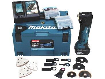 Makita MAKITA Akku-Multifunktionswerkzeug »DTM51RT1J3 / DTM51Y1JX8 / DTM51Z«, 18 V, blau, 5 Ah, 1 Akku, blau