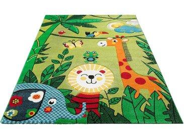 Lüttenhütt Kinderteppich »Dschungel«, rechteckig, Höhe 13 mm, handgearbeiteter Konturenschnitt