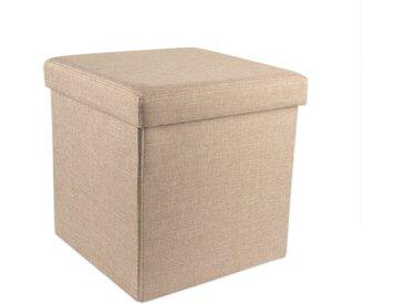 BigDean Sitzhocker »Sitzhocker mit 46 L Stauraum − Mit Deckel − 110 kg Belastung − Kleiner Fußhocker − Sitzwürfel − Aus MDF−Platten«