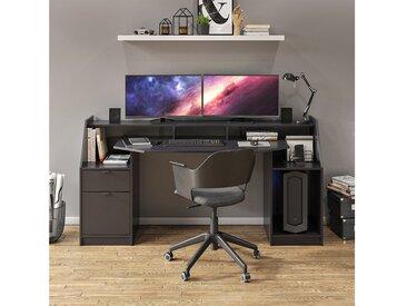 Vicco Schreibtisch »Computertisch Bürotisch Home Joel Schwarz Arbeitstisch Tisch«, schwarz, Schwarz