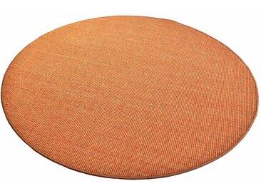 Living Line Sisalteppich »Trumpf«, rund, Höhe 6 mm, Obermaterial: 100% Sisal, orange, mandarine