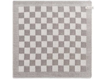 Knit Factory Tischdecke »Küchentuch Block Ecru/Taupe«