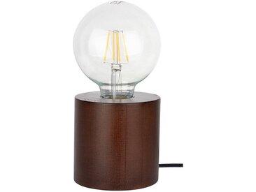 SPOT Light Tischleuchte »Trongo Round«, Dekorativer Leuchtenfuß aus edlem Masivenholz, geeignet für LM E27, Made in Europe