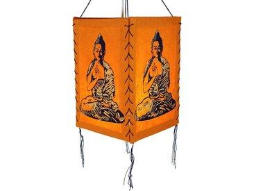 Guru-Shop Deckenleuchten »Lokta Papier Hänge Lampenschirm, Deckenleuchte..«, Buddha 1 orange