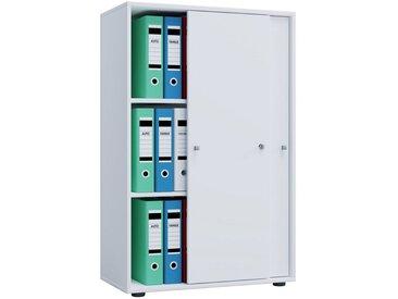 VCM Aktenschrank »Büroschrank Lona 3-fach mit Schiebetüren«, weiß, Weiß