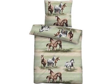 Biberna Jugendbettwäsche »Anastasia«, mit Pferden, 1 St. x 135 cm x 200 cm