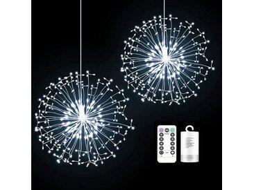 TOPMELON Lichterkette, LED Weihnachtslichtkette, mit Timing-Funktion, Wasserdicht, Batteriebetrieben, weiß, 3 St., Weiß