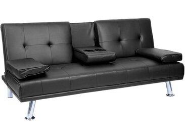 MCW 3-Sitzer »-F60«, 3 Sitzplätze, Schlaffunktion, Inklusive klappbarer Tassenhalter, Rückenlehne in 2 Stufen verstellbar, schwarz, schwarz - schwarz