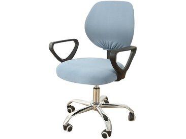 TOPMELON Bürostuhlhusse, (2-tlg/ Paar) Elastisches Material, Bürostuhlbezug, Geteilter Stuhlbezug, blau, Grau Blau