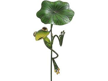 Dehner Gartenstecker »Dekostab Frosch Fabrizio, 113 x 19 x 17 cm, Metall«