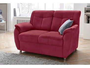 sit&more 2-Sitzer, mit Federkern, rot, bordeaux