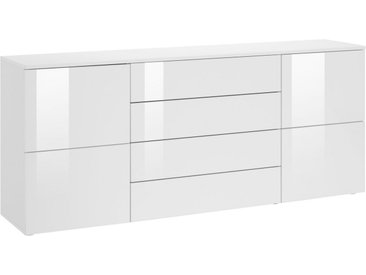 borchardt Möbel Kommode »Rova«, Breite 166 cm, weiß, weiß matt/weiß Hochglanz