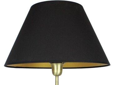 Signature Home Collection Lampenschirm, Handgefertigter Lampenschirm in Stoff, schwarz, schwarz