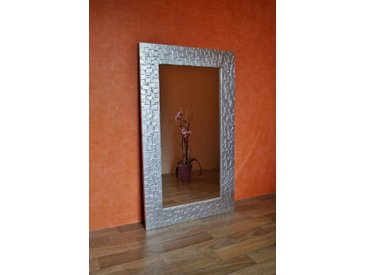 Bilderdepot24 Glasbild, Wandspiegel - Kacheln ca. 105x65 cm, bunt, Gold
