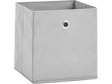 Zeller Present Aufbewahrungsbox (Set, 2 Stück), faltbar und schnell verstaut, grau, grau