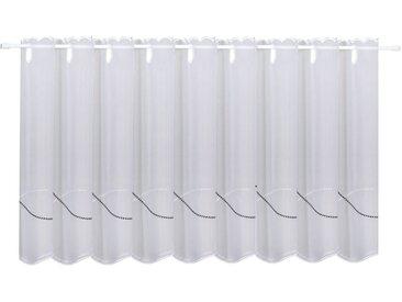 Gerster Scheibengardine »Lars«, Durchzuglöcher (1 Stück), HxB: 50x150, mit feinem Stickdesign