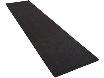 Snapstyle Sisalteppich »Sisal Natur Läufer Teppich«, Rechteckig, Höhe 6 mm, schwarz, Schwarz