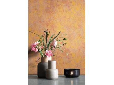 Newroom Vliestapete, Orange Tapete Leicht Glänzend Modern - Uni Einfarbig Braun Bronze Struktur Schlicht für Schlafzimmer Wohnzimmer Küche, braun, Leicht Glänzend,Struktur