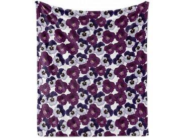 Abakuhaus Foulard »Gemütlicher Plüsch für den Innen- und Außenbereich«, Stiefmütterchen Frühlings-lila Blüten Kunst