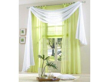 my home Bändchenrollo »Xana«, mit Stangendurchzug, grün, grün